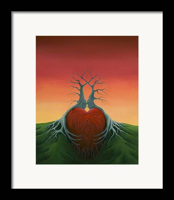 Tree Framed Print featuring the painting Heartwood by Boris Koodrin