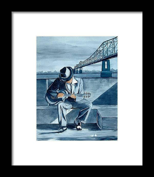 Blues Framed Print featuring the painting Helena Blues by Diane Ziemski