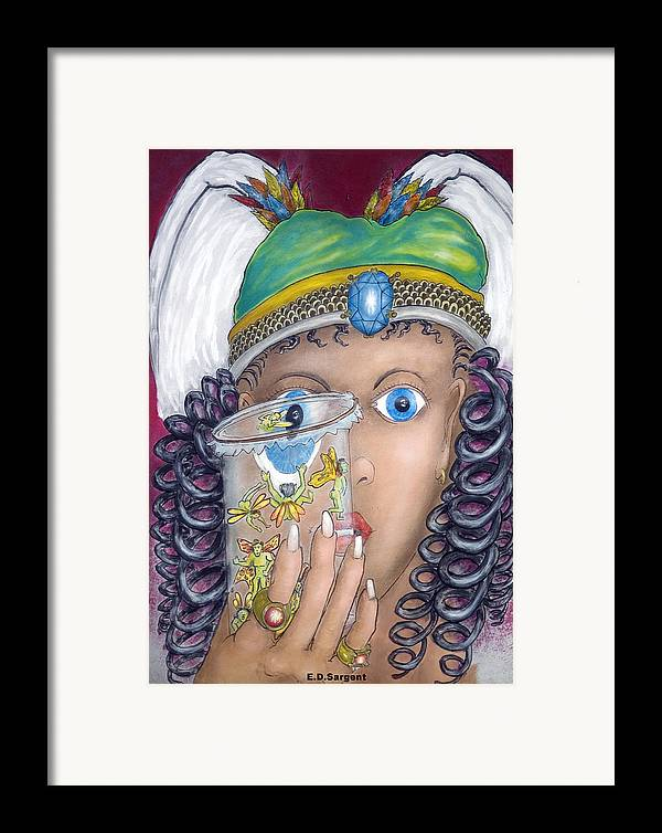 Fantasy Framed Print featuring the painting Her Jarflies by Eddie Sargent