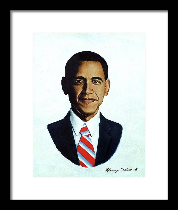 Political Framed Print featuring the painting He's The Bomb Obama by Henry Frison