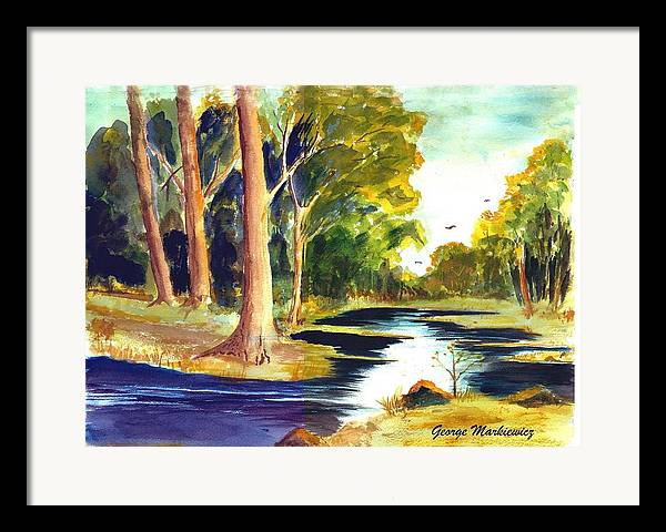 Landscape Framed Print featuring the print Hidden Glade by George Markiewicz