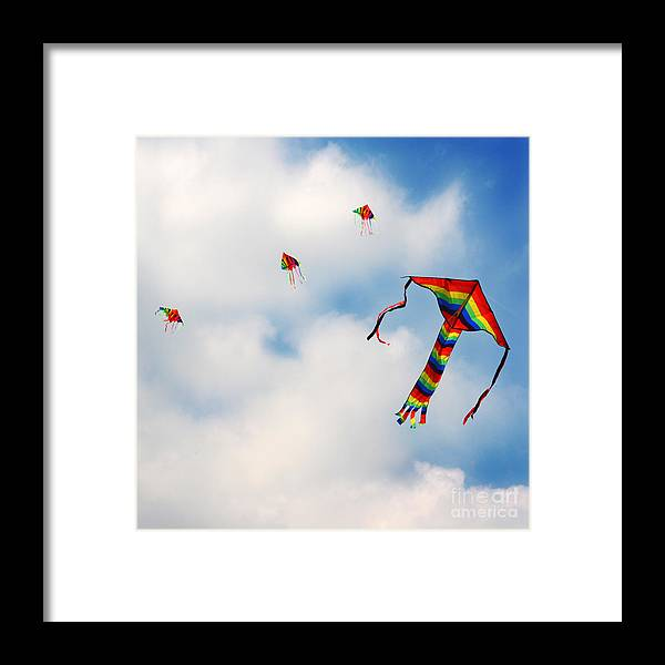 Sky Framed Print featuring the photograph High Hopes by Angel Ciesniarska