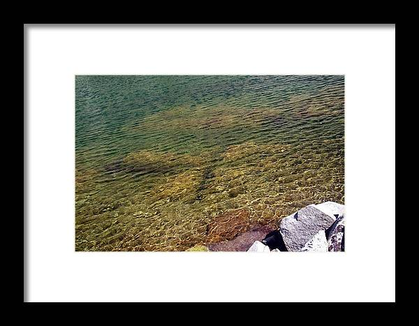 Water Waterscape Rocks Photo Photograph High Sierras Framed Print featuring the photograph High Sierras Treasure Lakes Vii by Sarah Stiles