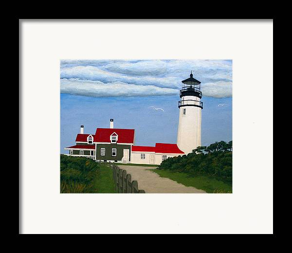 Lighthouse Paintings Framed Print featuring the painting Highland Lighthouse by Frederic Kohli