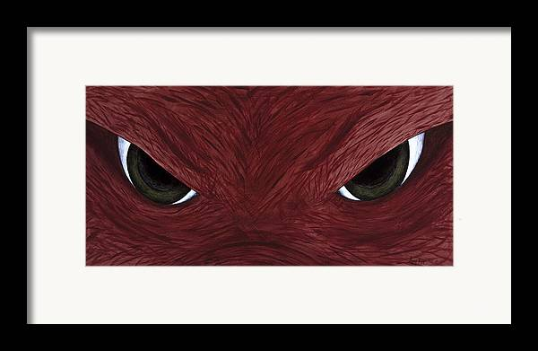 Arkansas Framed Print featuring the painting Hog Eyes by Amy Parker
