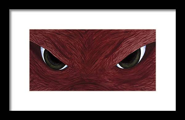 Arkansas Framed Print featuring the painting Hog Eyes by Amy Parker Evans