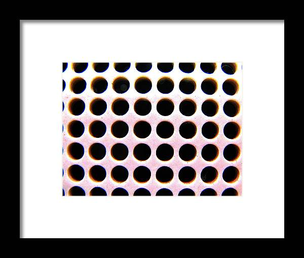 Art Framed Print featuring the photograph Holes by Dabin Lambert