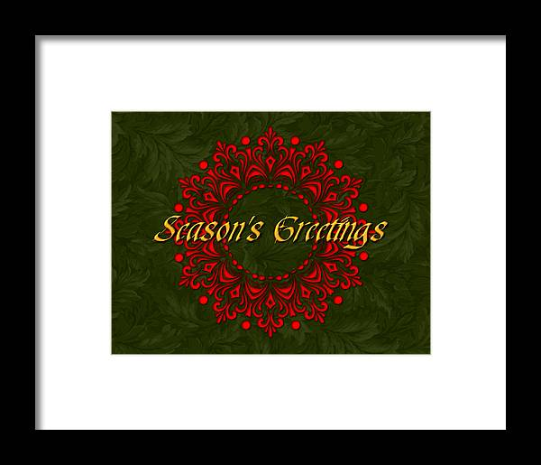 Christmas Framed Print featuring the drawing Holiday Card by Jeannette Scranton