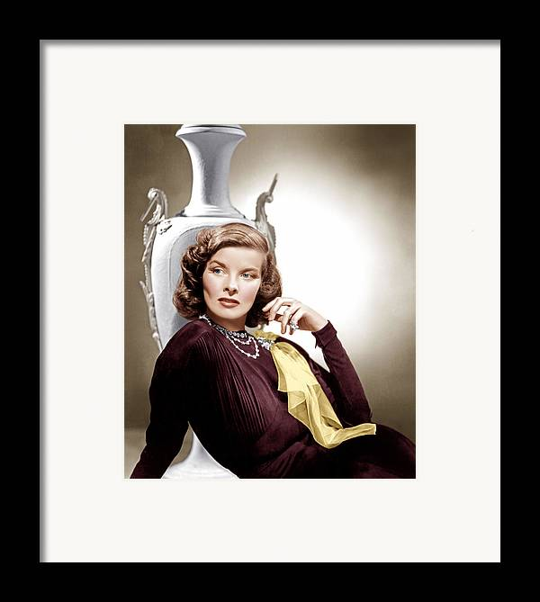 1930s Movies Framed Print featuring the photograph Holiday, Katharine Hepburn, 1938 by Everett