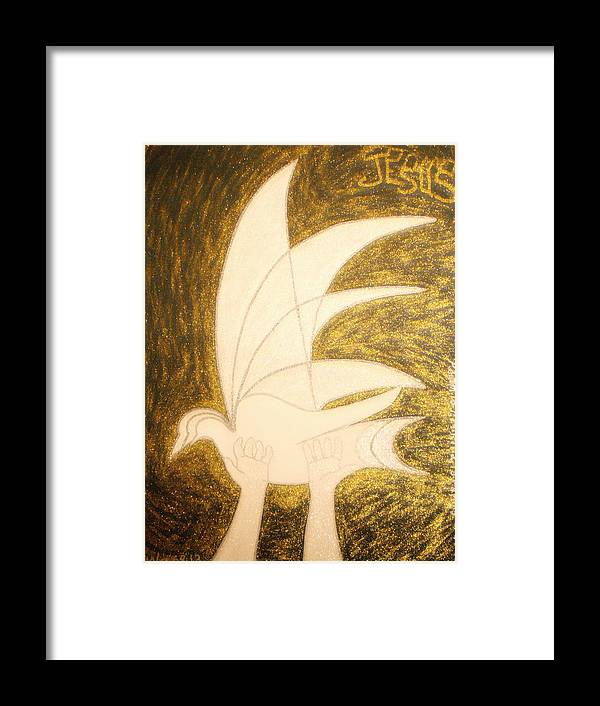 Holy Spirit Framed Print featuring the painting Holy Spirit by Daniel Henning