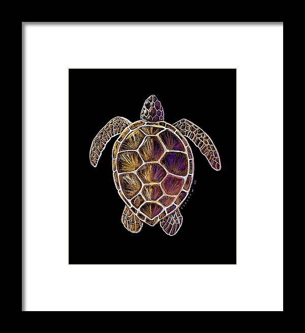 Turtle Framed Print featuring the painting Honu by Kirsten Carlson
