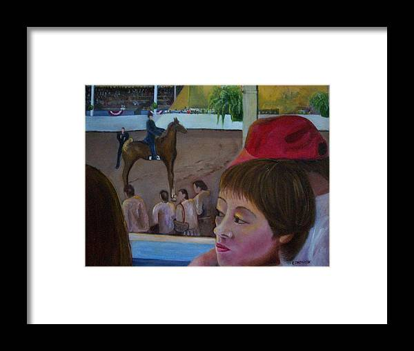Horse Framed Print featuring the painting Horse Show No. 1 by Karen Thompson