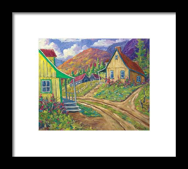 Art Framed Print featuring the painting House Of Louis by Richard T Pranke