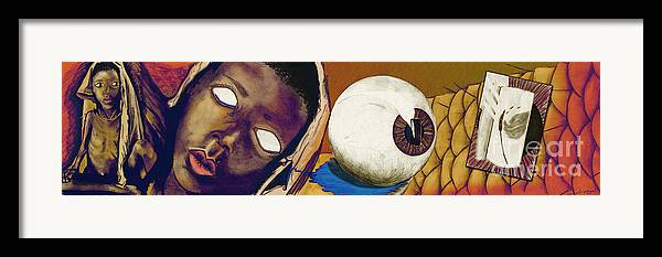 Feed The Children Framed Print featuring the digital art Hunger by Laura Brightwood