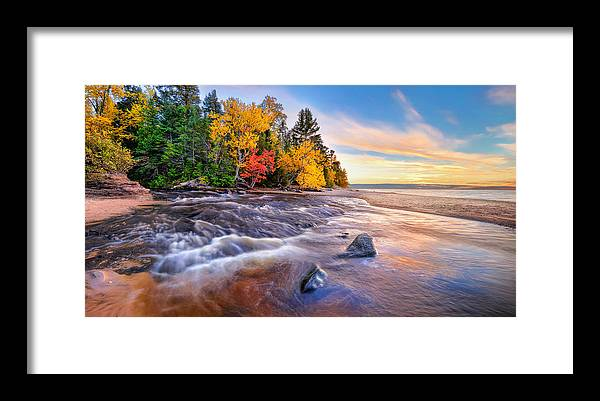 Hurricane River Framed Print featuring the photograph Hurricane River Sunset by Tim Trombley
