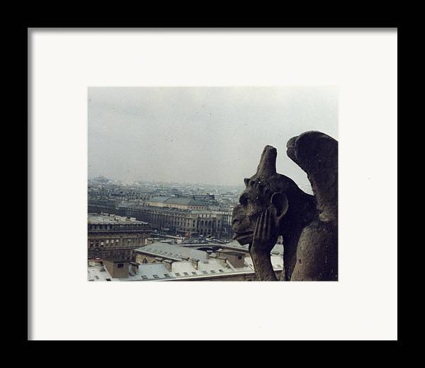 Gargoyle Framed Print featuring the photograph I Hate Paris by Jennifer Ott