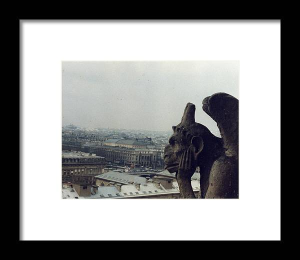 Gargoyle Framed Print featuring the photograph I Hate Paris by Jennifer Ott