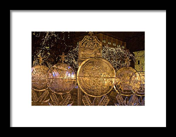 Framed Print featuring the photograph Ice Sculpture by Laurie Prentice