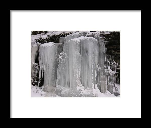 Icicles Framed Print featuring the photograph Icicles by Carolyn Postelwait