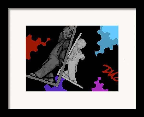 Dkzn Framed Print featuring the digital art Idle Bookends by Tom Dickson