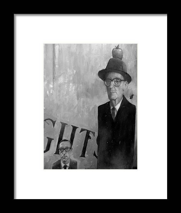 People Framed Print featuring the photograph If Magritte Only Knew by Elizabeth Hoskinson