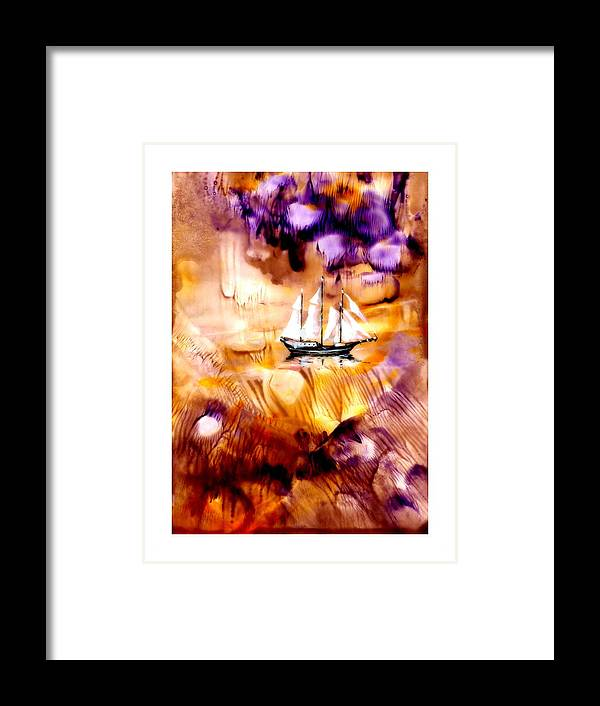 Abstract Framed Print featuring the painting Impera by Jola Mroszczyk