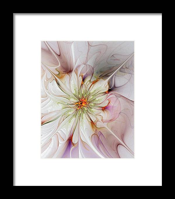 Digital Art Framed Print featuring the digital art In Full Bloom by Amanda Moore