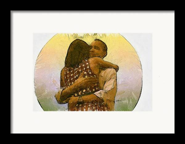Portrait Framed Print featuring the digital art In Love by Anthony Caruso