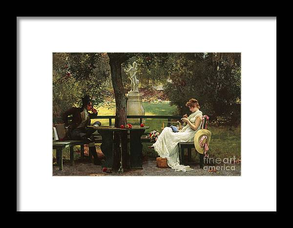 In Love Framed Print By Marcus Stone