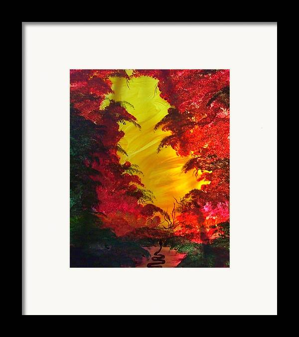 Abstract Framed Print featuring the print In The Beginning 2 by Beverly Baxter