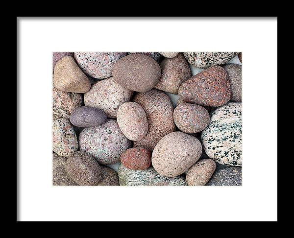 Pink Stones Framed Print featuring the photograph In The Pink by Kathi Mirto
