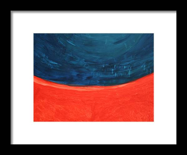 Framed Print featuring the painting Infinity by Prakash Bal Joshi