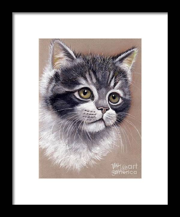 Soft Framed Print featuring the painting Innocence by Val Stokes