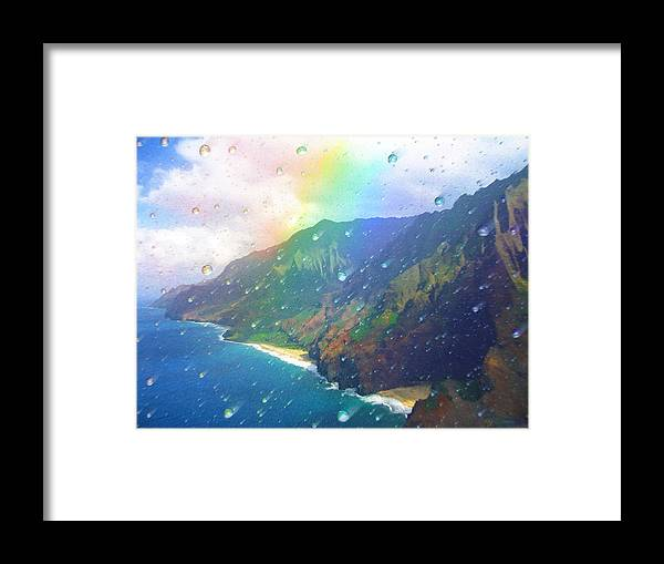 Rainbow Framed Print featuring the painting Inside A Rainbow by Robby Donaghey