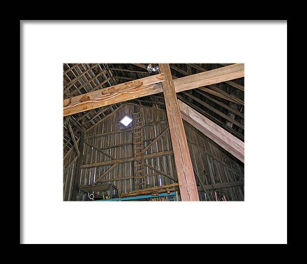 Farm Framed Print featuring the photograph Inside The Barn by Janis Beauchamp