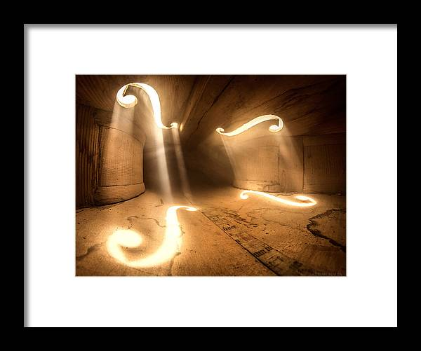 Violin Framed Print featuring the photograph Inside Violin by Adrian Borda