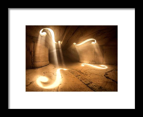 Violin Framed Print featuring the photograph Inside Violin 1 by Adrian Borda