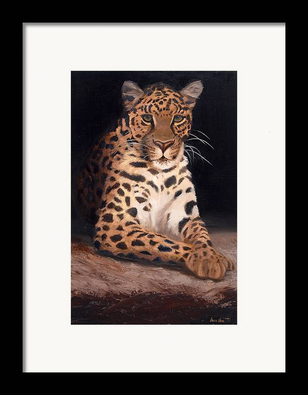 Wildlife Framed Print featuring the painting Intrigued by Greg Neal