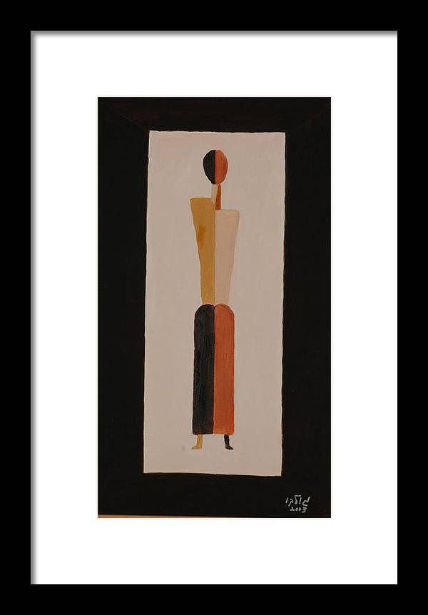 Figure Framed Print featuring the painting Iron Lady by Harris Gulko