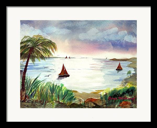 Island Boats Framed Print featuring the print Island Of Dreams by George Markiewicz