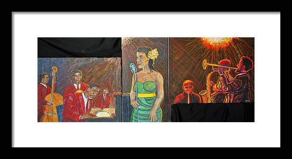 Jazz Framed Print featuring the painting Jazz Band by Richard Wynne