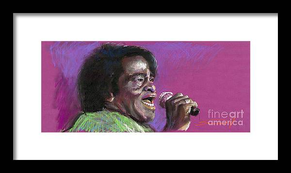 Jazz Framed Print featuring the painting Jazz. James Brown. by Yuriy Shevchuk