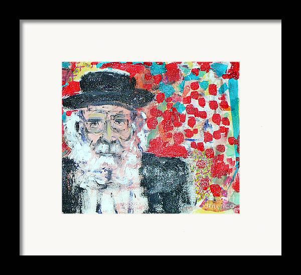 Israel Framed Print featuring the painting Jerusalem Man by Joyce Goldin