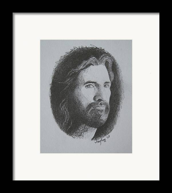 Portrait Framed Print featuring the print Jesus by Amy Parker