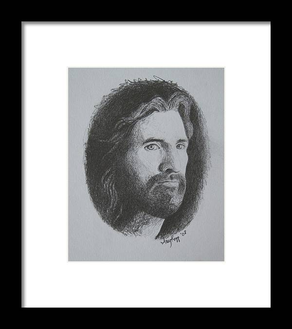 Portrait Framed Print featuring the print Jesus by Amy Parker Evans