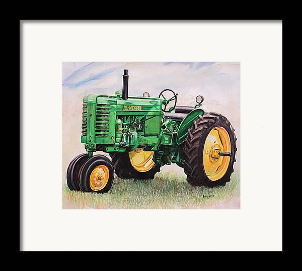 John Deere Tractor Cartoon Prints : John deere tractor framed print by toni grote