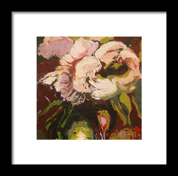 Cr�ations Originale Framed Print featuring the painting Jolie Fleur by Janine Boudreau