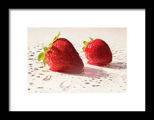 Juicy Framed Print featuring the photograph Juicy Strawberries by Michelle Himes