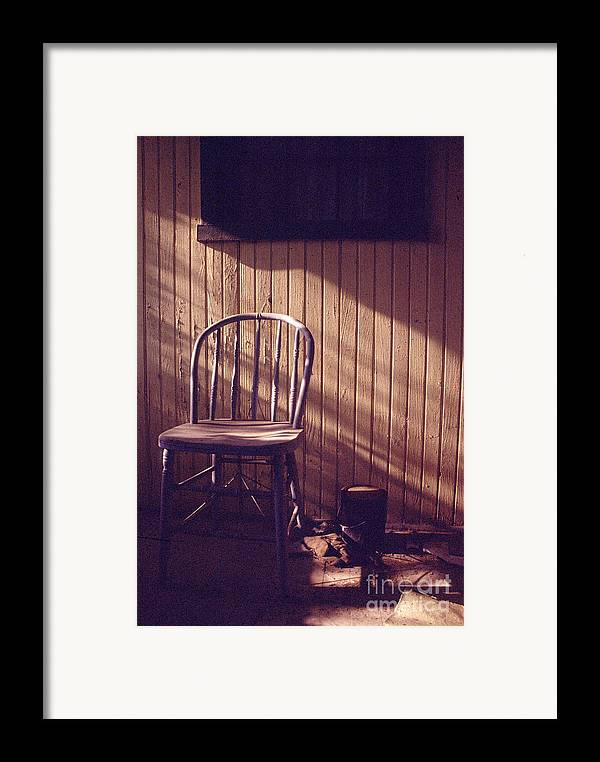 Chair Framed Print featuring the photograph Just Stepped Out For Sugar by Steven Godfrey