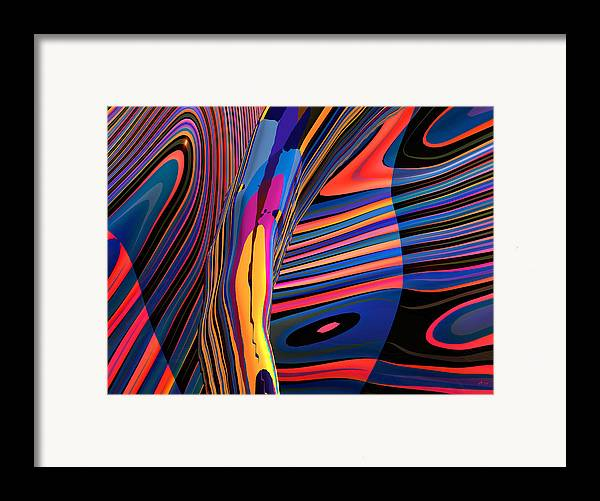 Abstract Art; Digital Fine Art; 3-d Rendering Framed Print featuring the digital art Kaleido-fa-callig. 10x11m37 Wide 11i by Terry Anderson